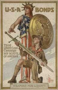 Leyendecker, USA Bonds, Third LIberty Loan Campaign Boyscouts of American Weapons for Liberty