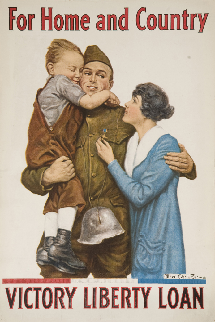 """Alfred Everett Orr, """"For Home and Country—Victory Liberty Loan,"""" 1918"""