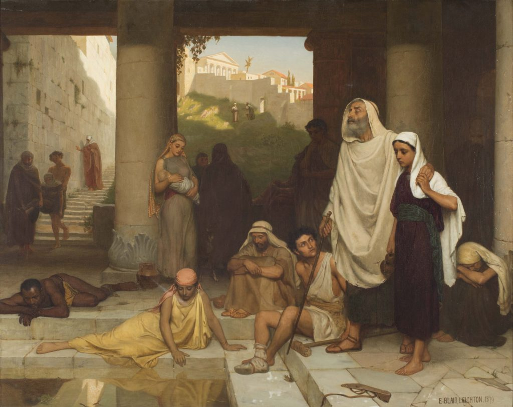 "Edmund Blair Leighton ""the Blind Man at the Pool of Siloam"""