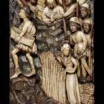 Panel of the Capture of Saint Edmund, Alabaster Sculpture form the Victorian and Alabaster Museum