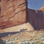 "This is an image of ""Lonesome Journey"" by Maynard Dixon."