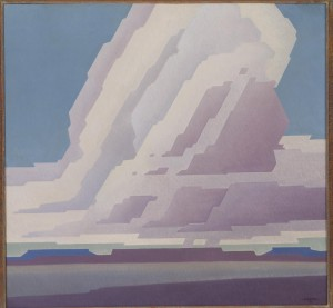 "Harold ""Buck"" Weaver (1889-1961), Cloud Pattern, c. 1927, oil on masonite, 34"" x 36"",  Diane and Sam Stewart Art Collection"