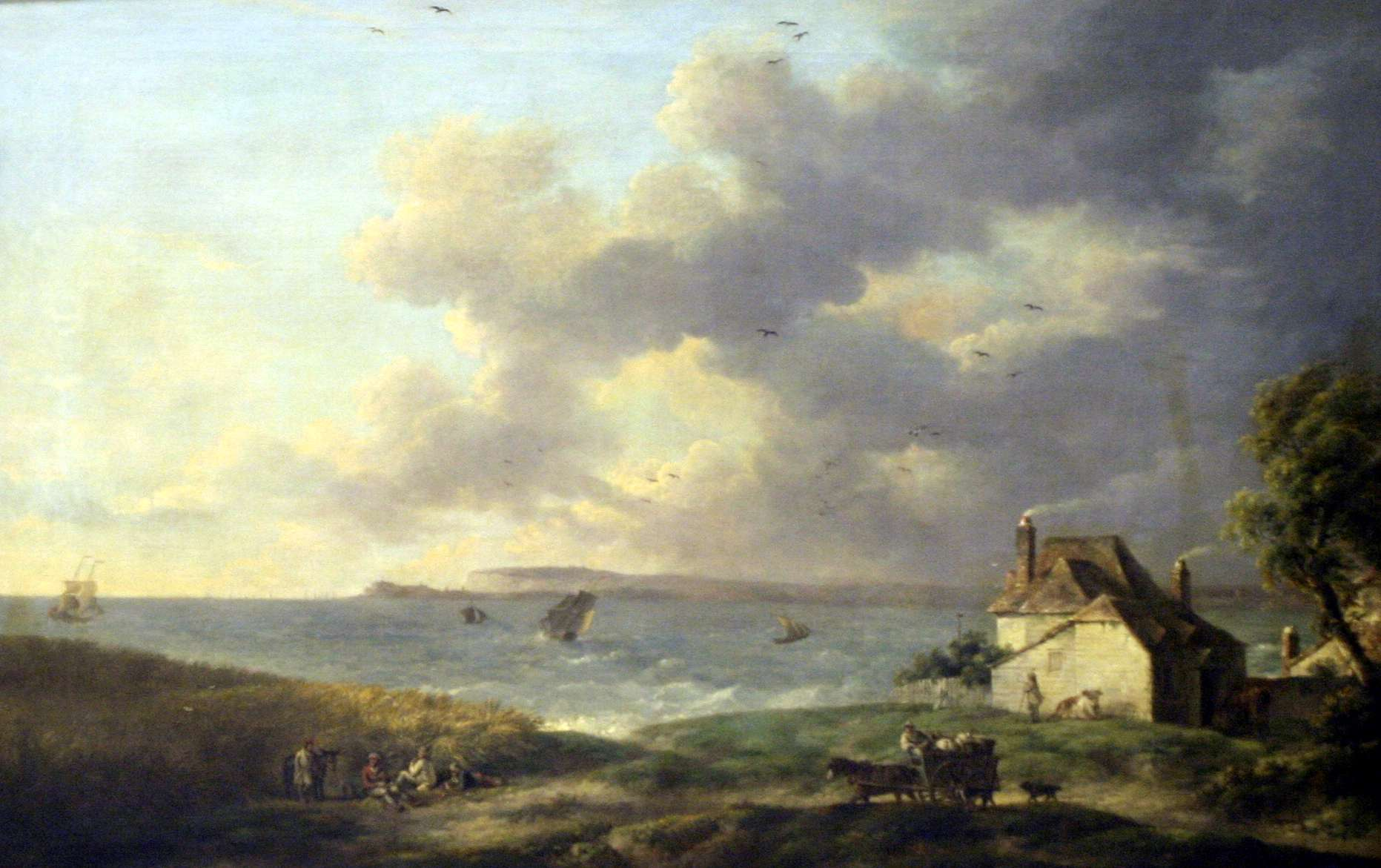 "George Morland, ""The View of Pegwell Bay Kent"""