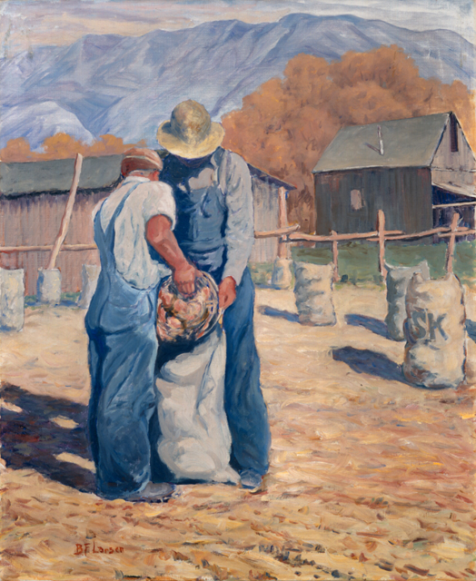 B.F. Larsen, Onion Harvest, c.1939