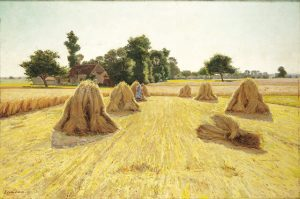 "Edwin Evans (1860-1946), ""Grain Fields,"" c.1890."