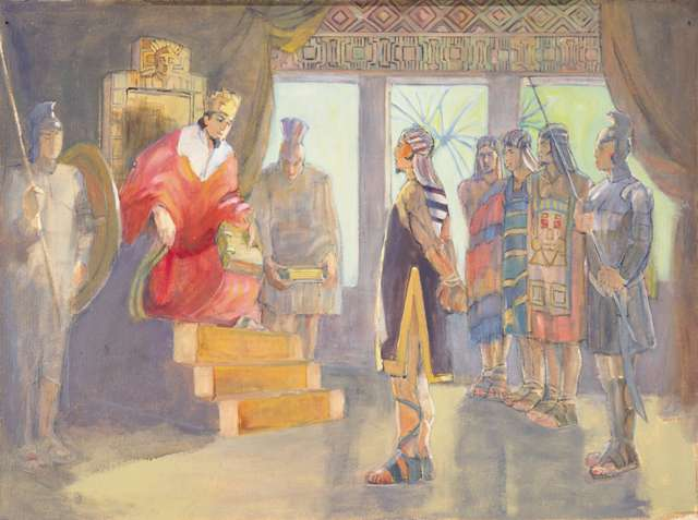 "Minerva Teichert ""Ammon Before King Limhi"""