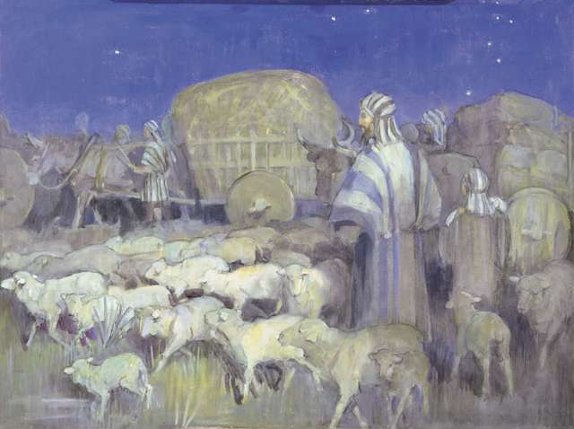 "Minerva Teichert ""Escape of Alma's People"""