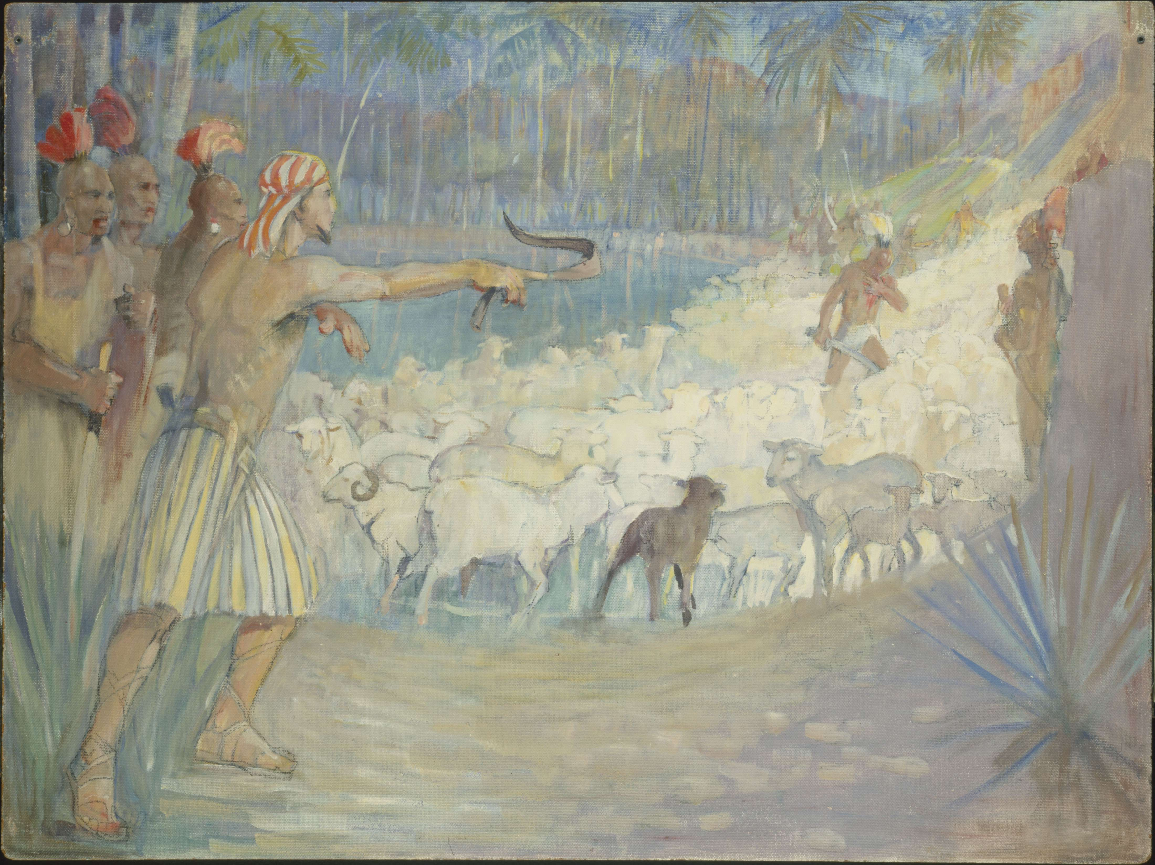 "Minerva Teichert ""Ammon Saves the King's Flocks"""