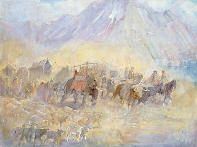 "Minerva Teichert ""Journey of the Jaredites Across Asia"""