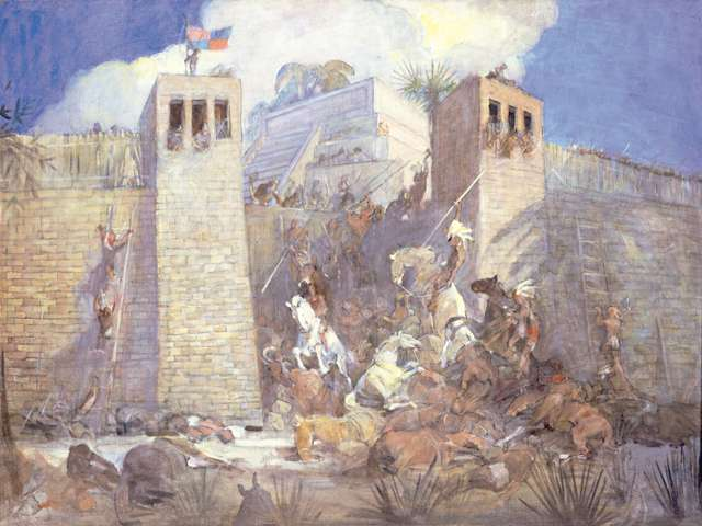 "Minerva Teichert ""Defense of a Nephite City"""