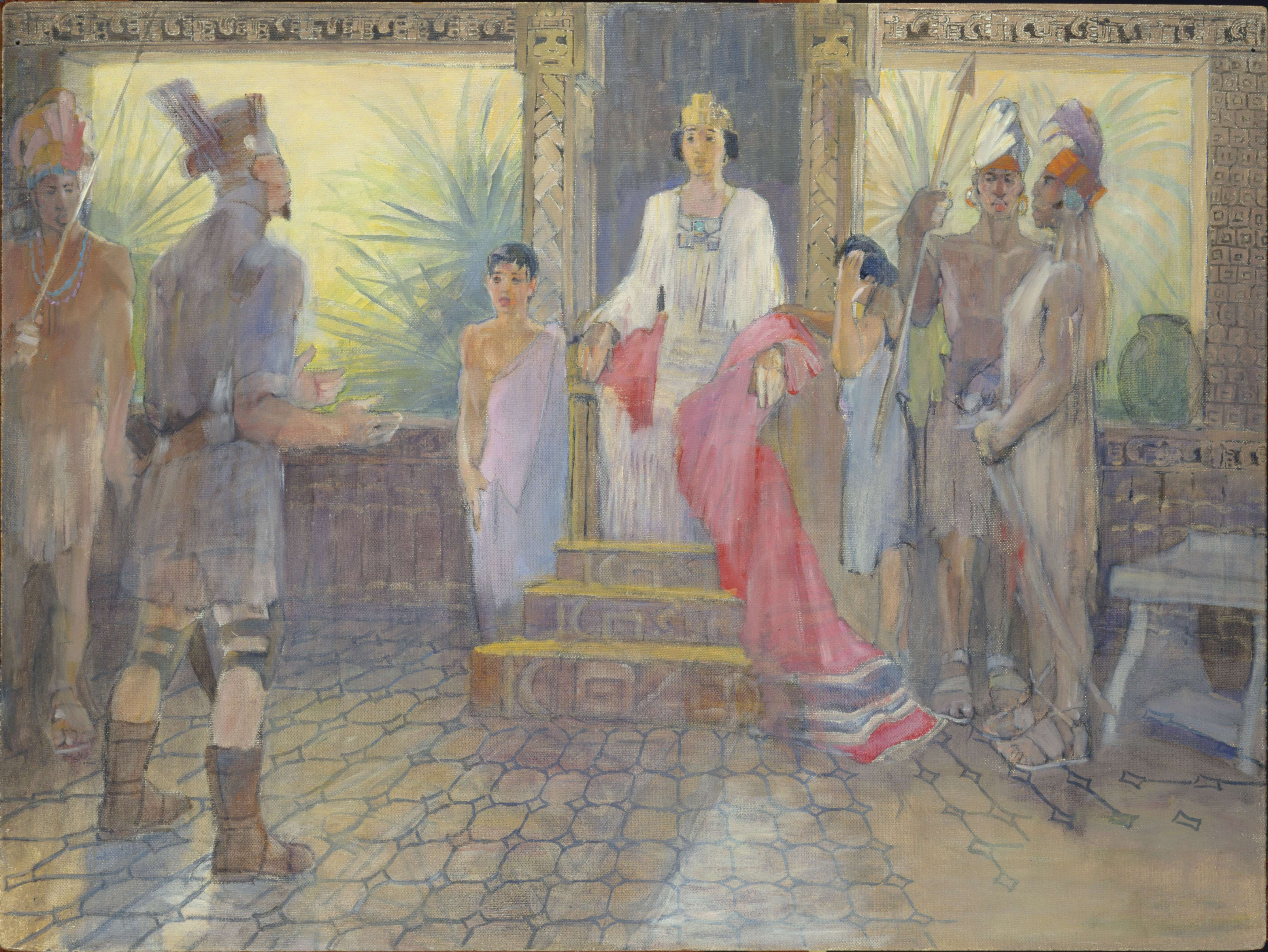 "Minerva Teichert ""Treachery of Amalickiah"""