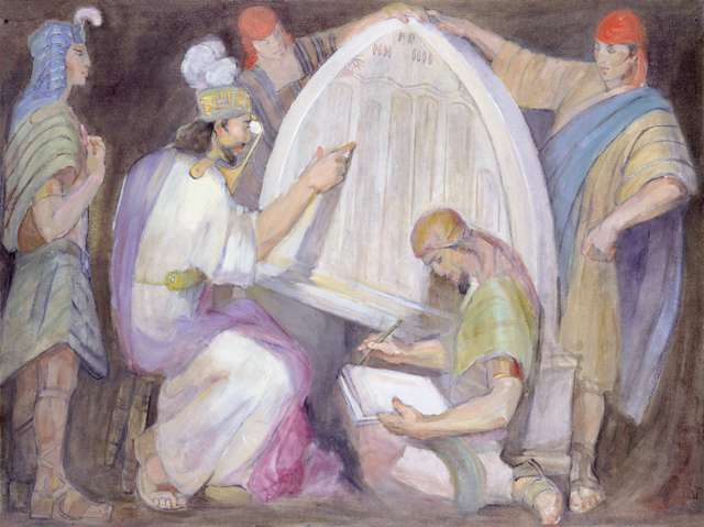 "Minerva Teichert ""Mosiah Interprets the Jaredite Stone"""