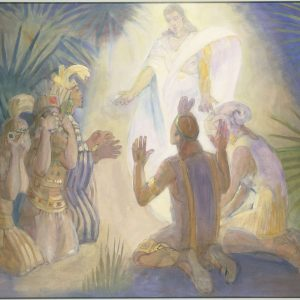 """Minerva Teichert """"An Angel Appears to Alma and the Sons of Mosiah"""""""