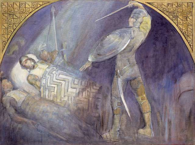 "Minerva Teichert ""Death of Amalickiah"""