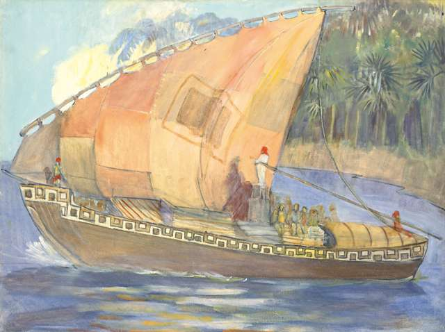"Minerva Teichert ""The Ship of Hagoth"""