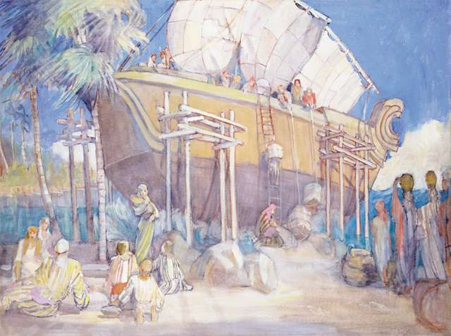 "Minerva Teichert ""Loading the Ship"""
