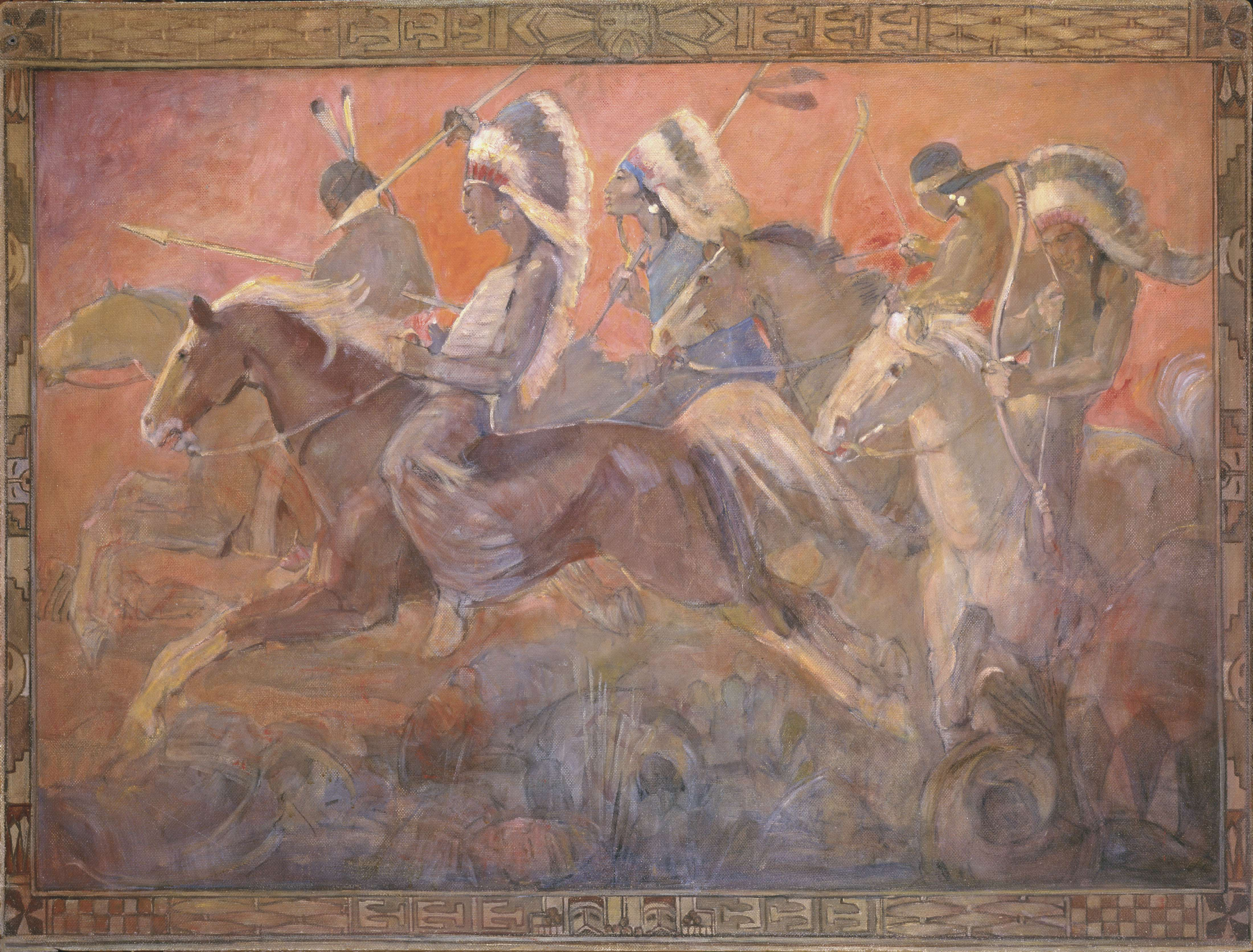 "Minerva Teichert ""Last Battle Between the Nephites and the Lamanites"""