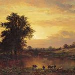 "Alfred Thompson Bricher, ""Sunset in the Catskills,"" 1862"