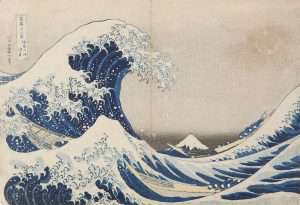 "Katsushika Hokusai ""Under the Wave Off Kanagawa, From Thirty-Six Views of Mount Fuji"""