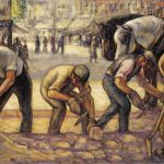 "Mahonri M. Young, ""The Pavers,"" c.1924"