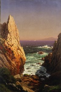 "Ryamond Dabb Yelland, ""View of Monterey Bay,"" 1879."