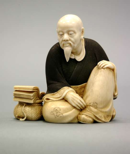 Seated Old Man with Book and Basket, c.1868-1912