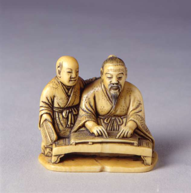 "Norishige, ""Netsuke: Musician Playing Gu Jen,"" 19th century"