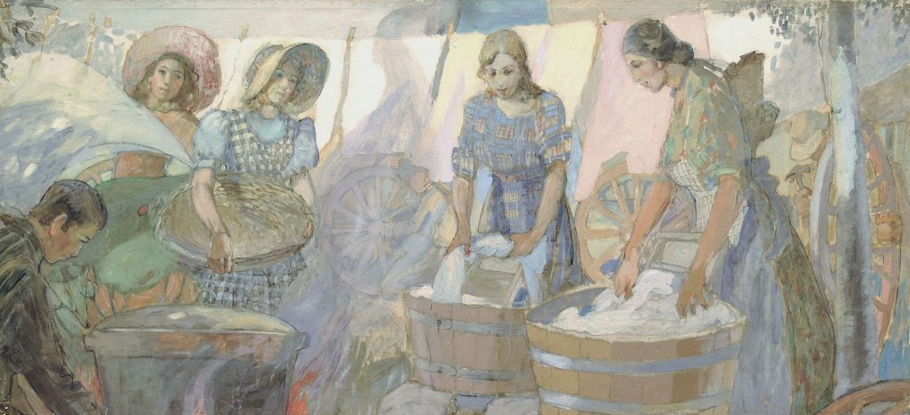 "Minerva Teichert ""Washday on the Plains"""