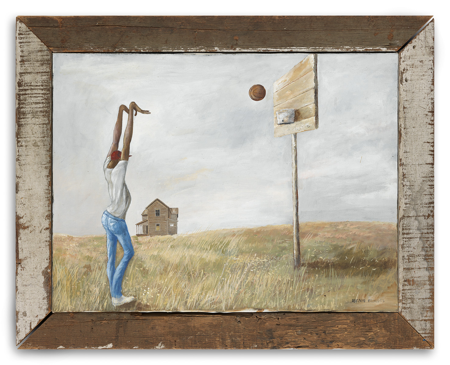 Ernie Barnes (1938-2009), In the Beginning, c.1970, acrylic on cotton canvas, 18 x 24 inches. Brigham Young University Museum of Art, purchased with funds provided by Curtis Atkisson, 2020.