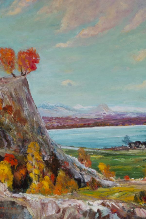 John Henri Moser, Bear Lake Cliff with Orange Trees