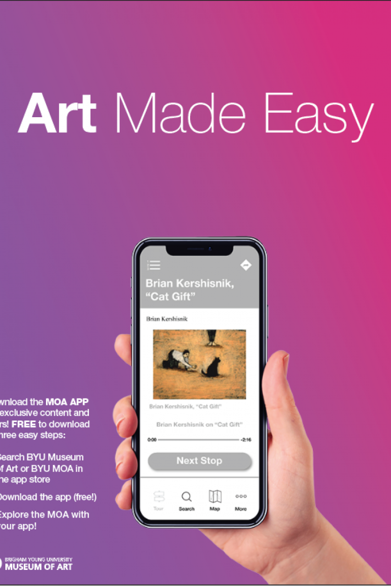 flier to download the BYU Museum of Art app