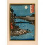 "Hiroshige Ishiyama, ""Temple and Lake Biwa..."""