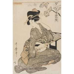 Kitagawa Utamaro, Courtesan Playing Samisen
