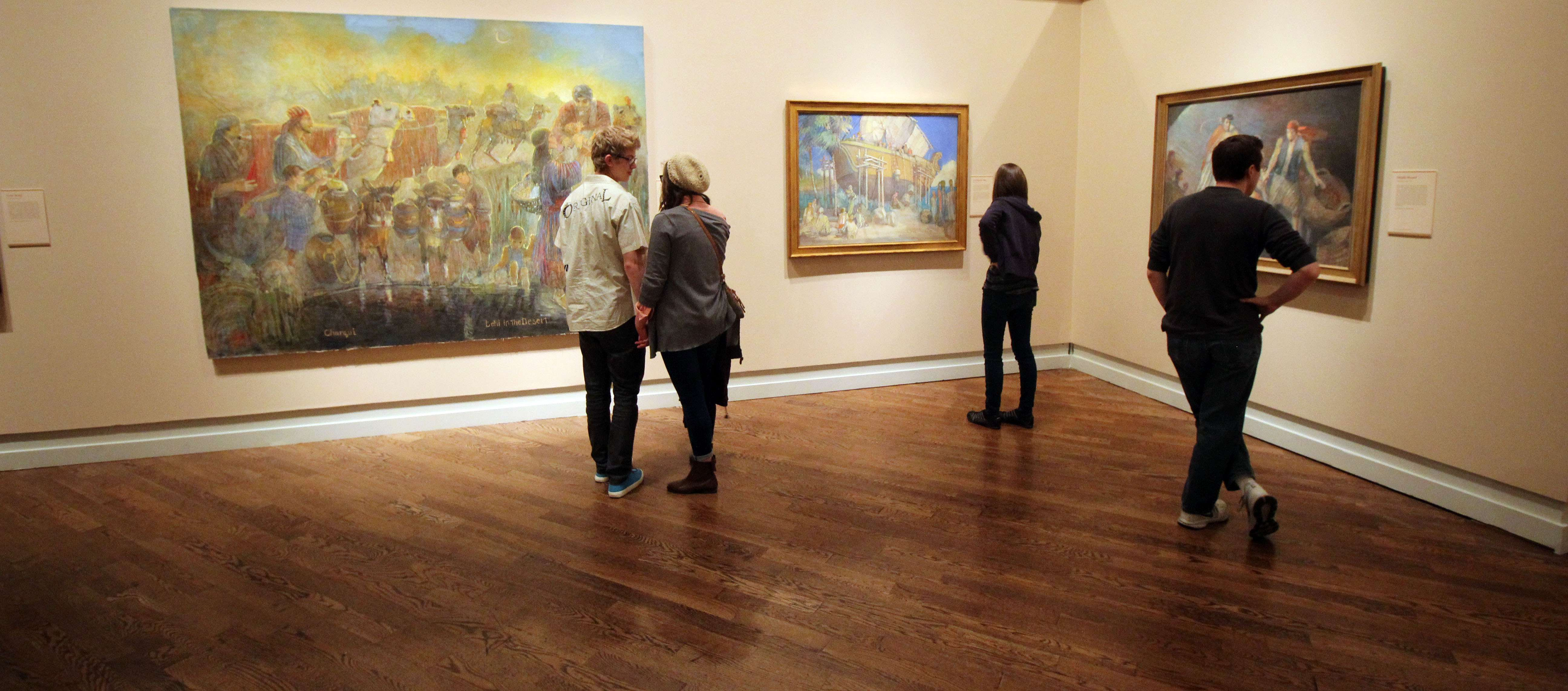 patrons in exhibition