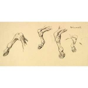"Mahonri M. Young, ""Horse Hooves After Gericault""Mahonri M. Young, ""Horse Hooves After Gericault"""