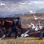 """Mahonri Young, """"Plowing Valley of the Great Salt Lake,"""" c.1930."""