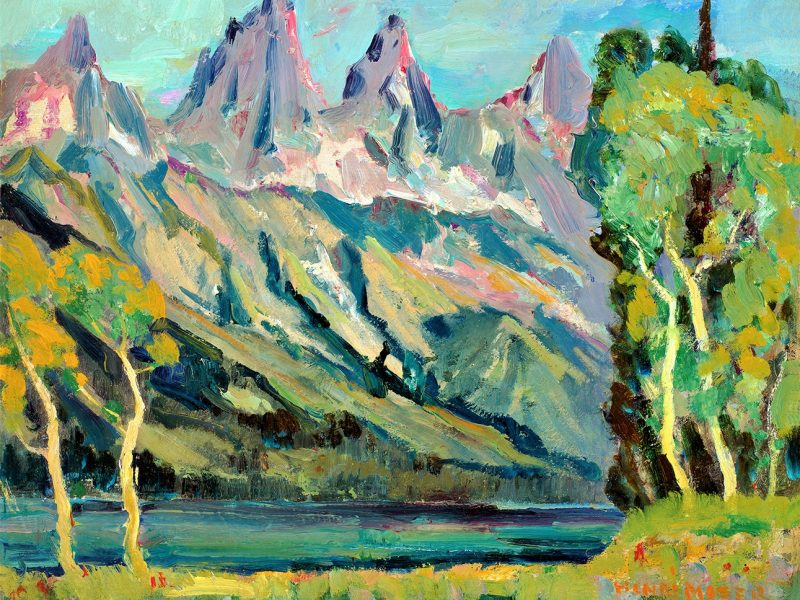 John Henri Moser, Tetons from Jenny Lake