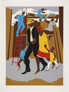 """Jacob Lawrence, """"The Builders (The Family)"""""""