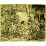 "Rembrandt, ""Adoration of the Shepherds with Lamp"""
