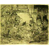 """Rembrandt, """"Adoration of the Shepherds with Lamp"""""""