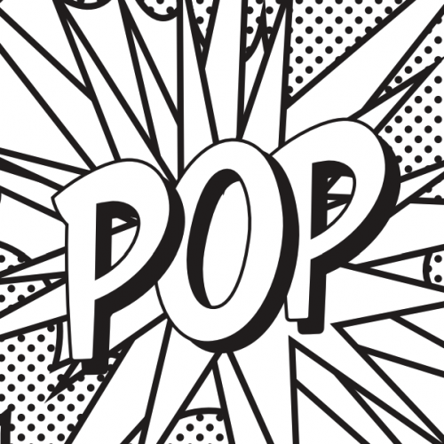 coloring page in the style of pop art