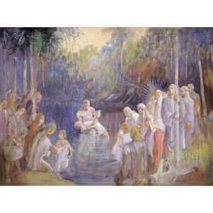 Minerva Teichert, Alma Baptizes in the Waters of Mormon