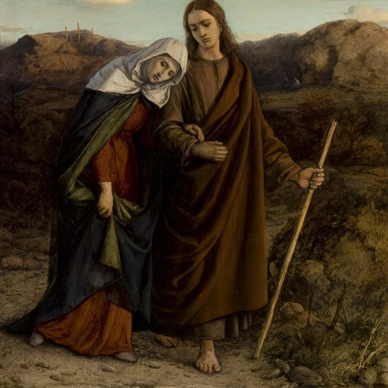 """William Dyce """"St. John Leading Home his Adopted Mother"""""""