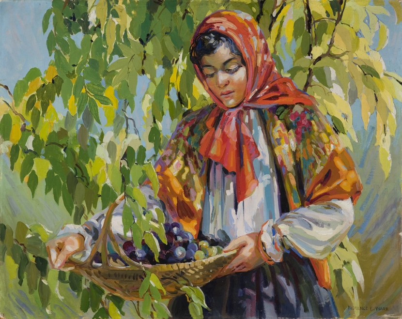 """Florence Ware """"Young Woman with Fruit"""""""