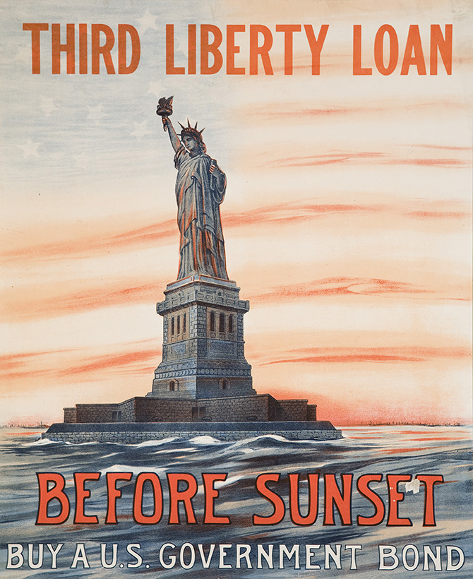 "Eugenie de Land, ""Before Sunset Buy a U.S. Government Bond of the 2nd Liberty Loan of 1917,"" 1917."