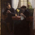 "Carl Thomson, ""Interior with Couple,"" 1890"