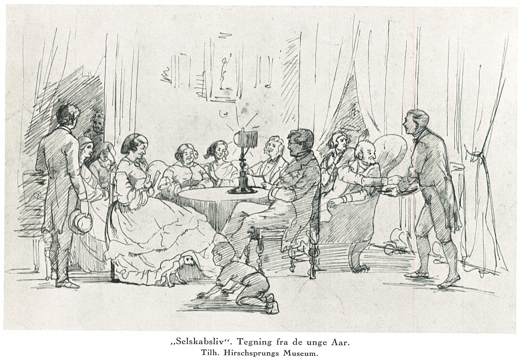 """""""Corporate Life,"""" a drawing from Bloch's youth"""
