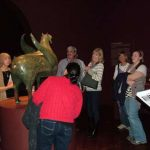 Looking at the Hypogryph with Educators during the Evening for Educators