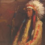 Joseph H. Sharp, Painting of an Indian Chief