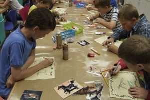 Kids at a Family Workshop creating Art
